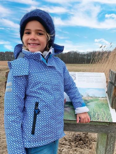 Kurtka całoroczna dla dziecka 3 w 1 z polarem sherpa, Funky blue, rozmiar 3 4 lata (98 104)